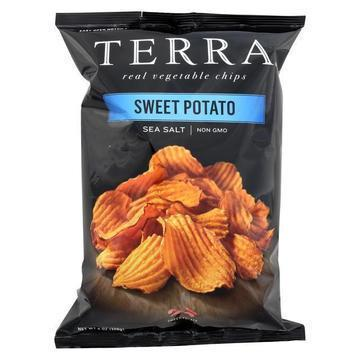 Terra Chips Sweet Potato Chips - Crinkled Sweet Potato with Sea Salt - Case of 12 - 6 oz.