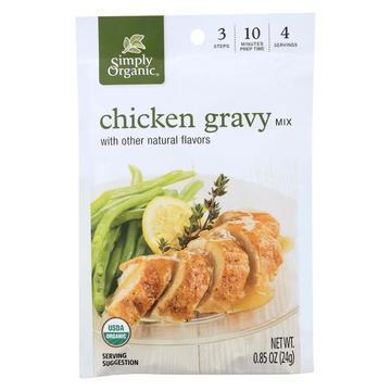 Simply Organic Seasoning Mix - Roasted Chicken Gravy - Case of 12 - 0.85 oz.