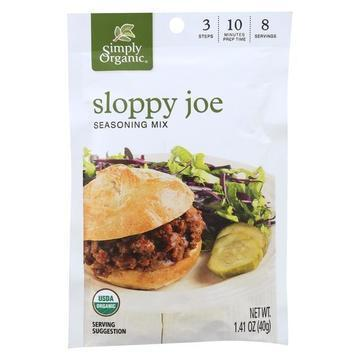 Simply Organic Seasoning Mix - Sloppy Joe - Case of 12 - 1.41 oz.