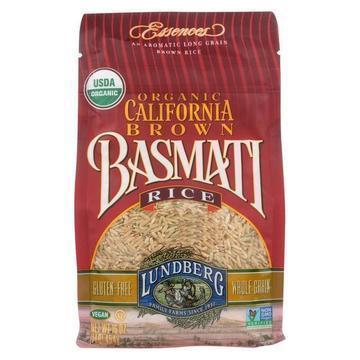 Lundberg Family Farms Organic California Basmati Rice - Brown - Case of 6 - 1 lb.