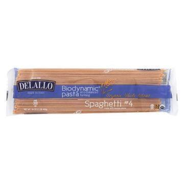 Delallo - Biodynamic - Organic - Whole Wheat - Spaghetti - Case of 16 - 16 oz