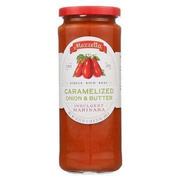 Mezzetta Caramelized Onion and Butter Tomato Sauce - Case of 6 - 16.25 oz.