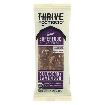 Gomacro Superfood Nut Bar - Blueberry Lavender - Case of 12 - 1.4 oz.