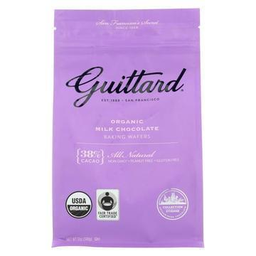 Guittard Chocolate Baking Wafers - Organic - 38% Milk - Case of 8 - 12 oz