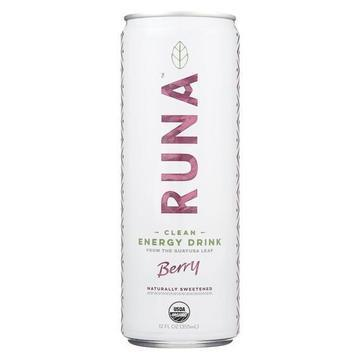 Runa Clean Energy Drink - Berry - Case of 12 - 12 Fl oz.