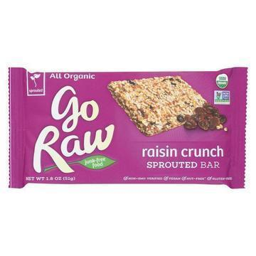 Go Raw - Organic Sprouted Bar - Raisin Crunch - Case of 20 - 1.8 oz.