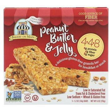 Bakery On Main Granola Bars - Peanut Butter and Jelly - Case of 6 - 1.2 oz.