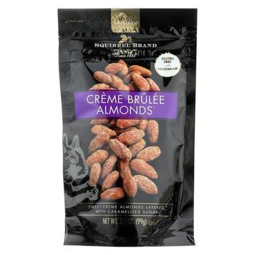 Squirrel Brand Almonds - Creme Brulee - Case of 6 - 3.5 oz