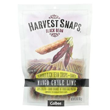 Calbee Snapea Crisp - Black Bean Crisps - Mango Chile Lime - Case of 12 - 3 oz