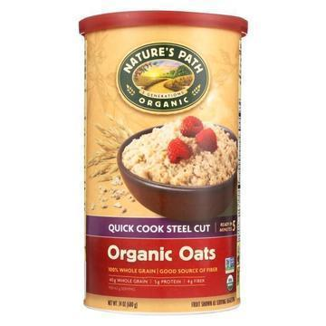 Nature's Path Oats - Organic - Steel Cut - Quick - Case of 6 - 24 oz