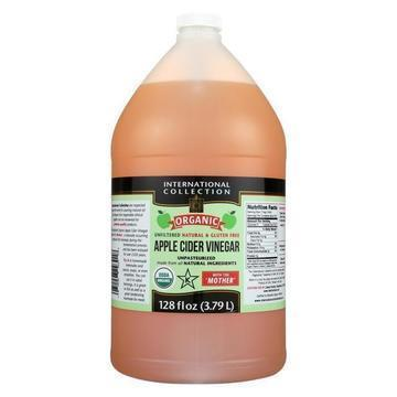 International Collection Vinegar - Organic - Apple Cider - Case of 4 - 128 fl oz
