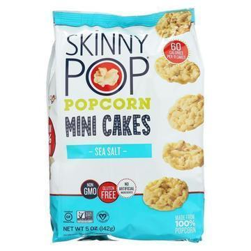 Skinnypop Popcorn Popcorn - Sea Salt - Case of 12 - 5 oz