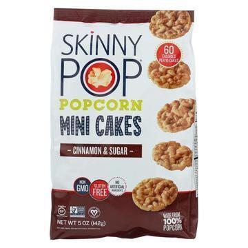 Skinnypop Popcorn Popcorn - Mini Cakes - Cinnamon and Sugar - Case of 12 - 5 oz