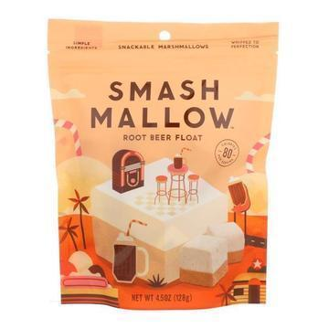 Smashmallow Snackable Marshmallows - Root Beer Float - Case of 12 - 4.5 oz