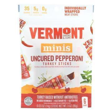 Vermont Smoke and Cure Mini Stick - Uncured Pepper - Case of 8 - 6/.5 oz