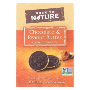 Back To Nature Cookies - Chocolate Peanut Butter Cream - Case of 6 - 9.6 oz.