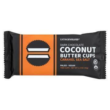 Eating Evolved Coconut Butter Cups Caramel Sea Salt Case Of  Oz