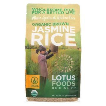 Lotus Foods Organic - Rice - Brown - Jasmine - Case of 6 - 30 oz