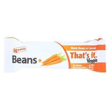 That's It Veggie Bar - Black Bean & Carrot - Case of 12 - 1.2 oz