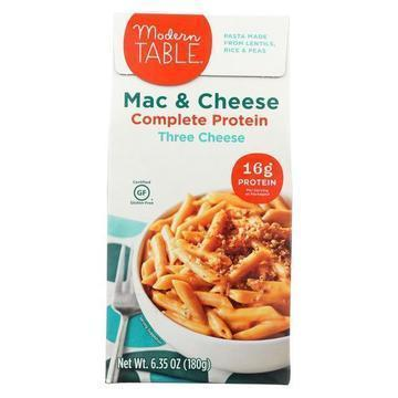 Modern Table Lentil Macaroni and Cheese - 3 Cheese - Case of 6 - 6.35 oz