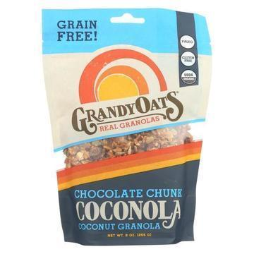 Grandy Oats Organic Granola - Chocolate Chunk Coconola - Case of 6 - 9 oz