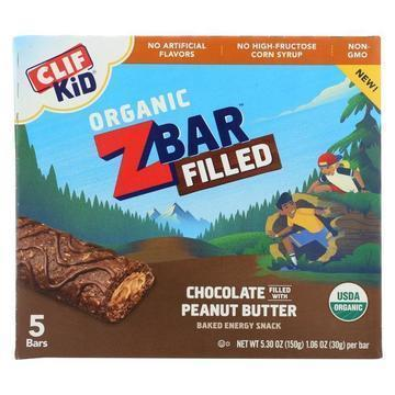 Clif Kid Zbar Filled - Chocolate Peanut Butter - Case of 8 - 5/1.06oz