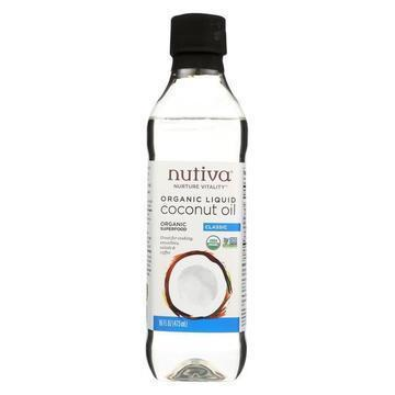 Nutiva Oil - Organic - Liquid Coconut - Case of 6 - 16 fl oz