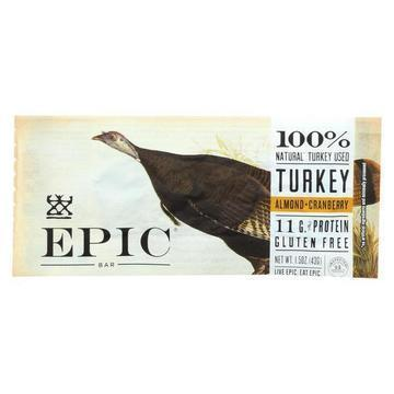 Epic - Bar - Turkey - Almond - Cranberry - Case of 12 - 1.5 oz