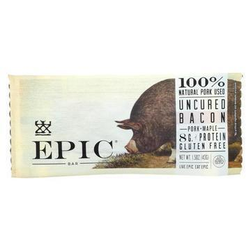 Epic - Bar - Pork - Maple - Uncured Bacon - Case of 12 - 1.5 oz