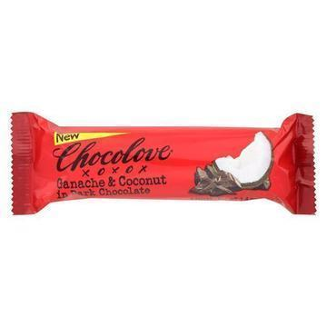 Chocolove Xoxox - Bar - Ganche Coconut - Dark Chocolate - Case of 12 - 1.41 oz