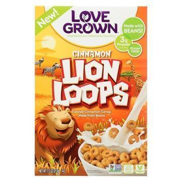 Love Grown Foods Cereal - Lion Loops - Case of 6 - 7.5 oz