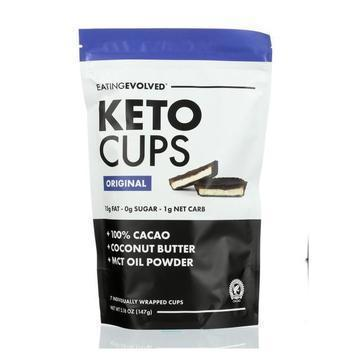 Eating Evolved Keto Cups - Original Keto Pouch - Case of 6 - 5.25 oz.