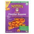 Annie's Homegrown Organic Bunnies Crackers - Cheddar - Case of 6 - 11.25 oz