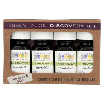 Aura Cacia - Essential Oil - Discovery Kit - 0.25 FL oz.