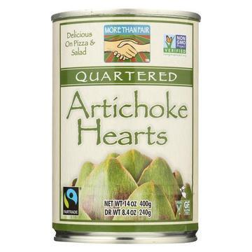 More Than Fair Artichoke Hearts - Quartered - Case of 6 - 14 oz.