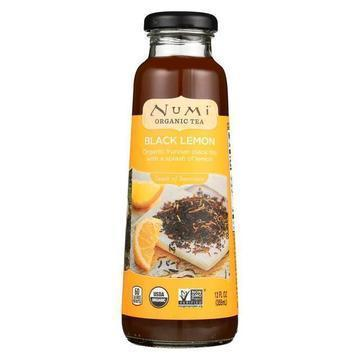 Numi Tea Organic Tea - Black Lemon - Case of 12 - 12 fl oz