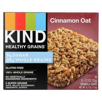 Kind Healthy Grains Bars - Cinnamon Oat - Case of 8 - 5/1.2 oz