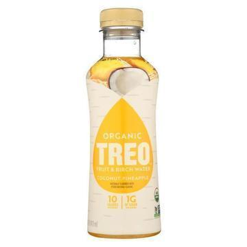 Treo Birch Water Beverage - Coconut Pineapple - Case of 12 - 16 fl oz.