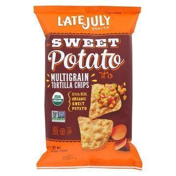 Late July Snacks Snack Chips - How Sweet Potato It Is - Case of 12 - 5.5 oz.
