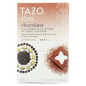 Tazo Tea Tea - Chocolate Chai - Case of 6 - 20 BAG