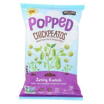 Watusee Foods Chickpeatos - Zesty Ranch - Case of 8 - 4 oz