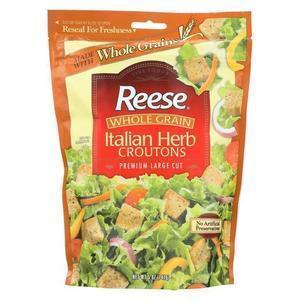Reese Whole Grain Croutons - Italian Herb - Case of 12 - 5 oz.