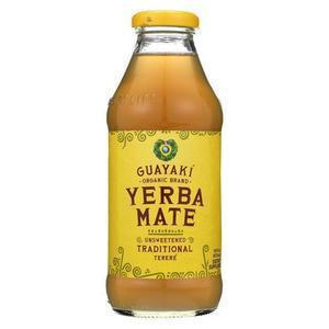 Guayaki Organic Unsweetened Mate - Case of 12 - 16 fl oz