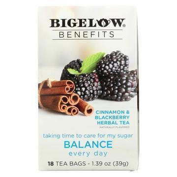 Bigelow Tea Tea - Cinnamon Blackberry - Balance - Case of 6 - 18 BAG
