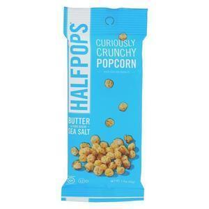 Halfpops Popcorn - Butter and Pure Ocean Sea Salt - Case of 15 - 1.4 oz.