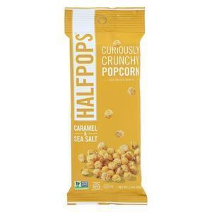 Halfpops Popcorn - Caramel and Sea Salt - Case of 15 - 1.4 oz.