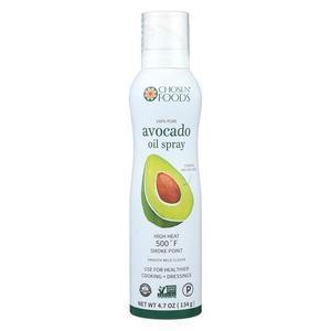 Chosen Foods Avacado Oil - 100%Pure - Spry - Case of 6 - 4.7 fl oz