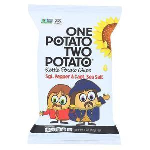 One Potato Two Potato Chips - Sea Salt and Pepper - Case of 24 - 2 oz.