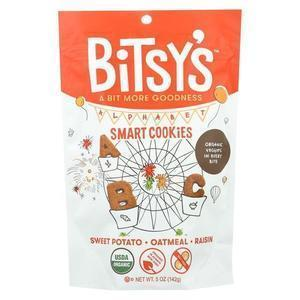 Bitsys Brainfood Cookies Sweet Potato Oatmeal Raisin - Case of 6 - 5 oz.