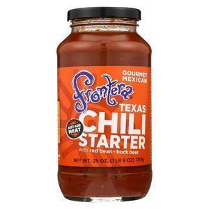 Frontera Foods Chili Starter - Texas - Case of 6 - 25 oz